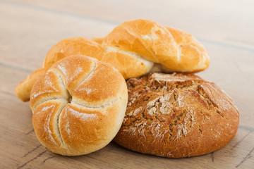 Fresh bread and rolls