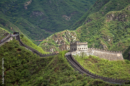 Tuinposter Chinese Muur The Great Wall, Juyongguan, China