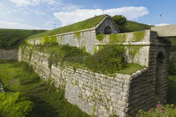 Rear of the Verne Citadel, Victorian UK