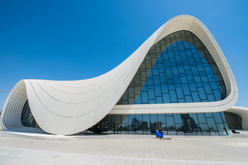 BAKU- MAY 03: Heydar Aliyev Center on May 3, 2014 in Baku, Azerb
