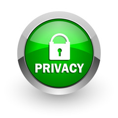 privacy green glossy web icon