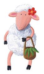 Cute sheep carry bag