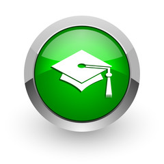 education green glossy web icon