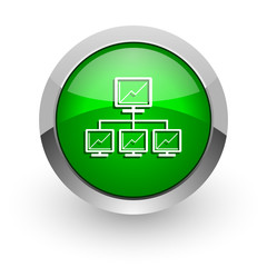 network green glossy web icon