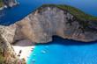 Shipwreck in Smuggler's Cove, Zakynthos, Greece - 67802469