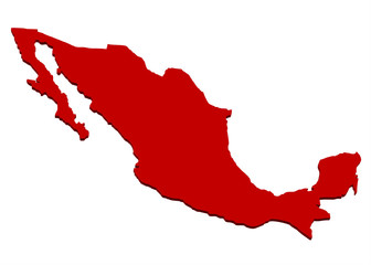 kırmızı meksika haritası tasarımı