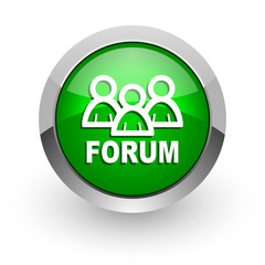 forum green glossy web icon