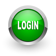 login green glossy web icon