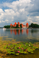 Trakai Island Castle in summer day