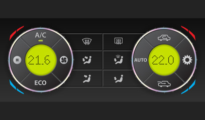 Digital air condition dashboard