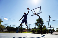 Basketball-Spieler Silhouette