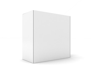 Blank boxes isolated on white