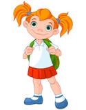 Fototapety Schoolgirl