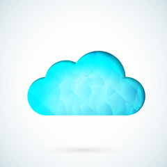 Blue cloud geometric vector background