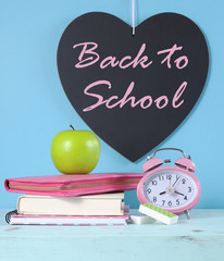 Back to School heart blackboard