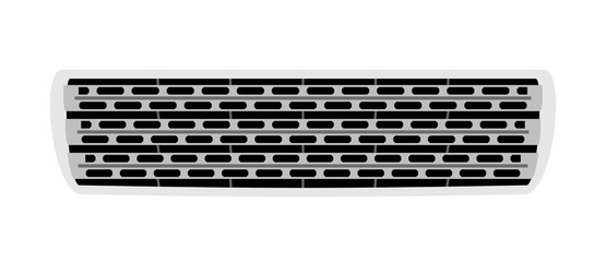 Car grill isolated on white background. Vector EPS10.