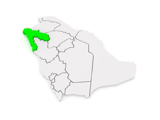 Map of Tabuk. Saudi Arabia.