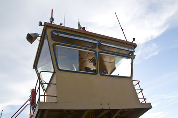 Ferry boat control room