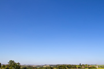 Porto Feliz clear sky and horizon