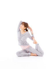 young asian woman exercise image