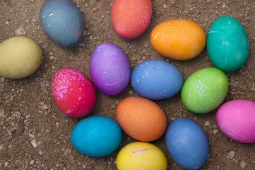 Handcolored Easter Eggs