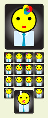Avater workers icon set, art vector illustration