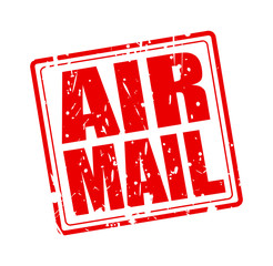 AIR MAIL red stamp text