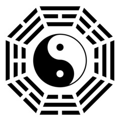 Yin yang symbol of harmony and balance