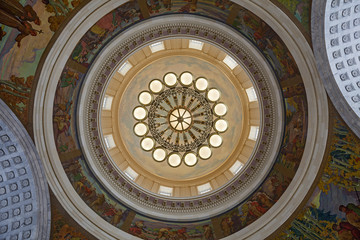 Interior of the Utah State Capitol building Rotunda Ceiling