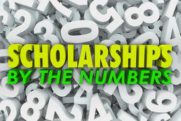 Scholarships By the Numbers Words College Financial Aid Merit Aw