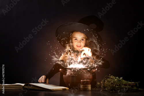 canvas print picture Halloween witch