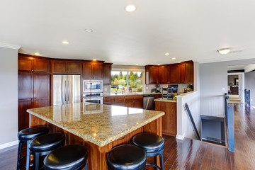 Spacious luxury kitchen room
