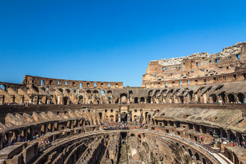 Inside the Colosseum in Rome