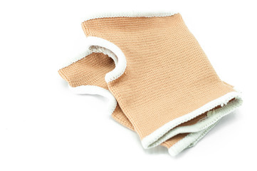 neoprene wrist support over white