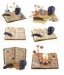 Halloween collection with magic book