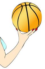 Una giocatrice di Basket