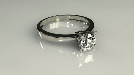 Drop diamond ring