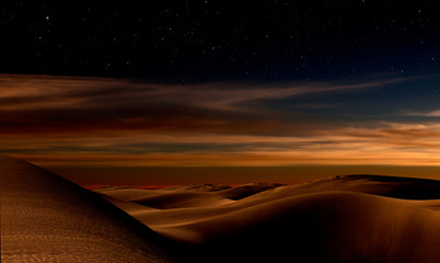 Night in desert