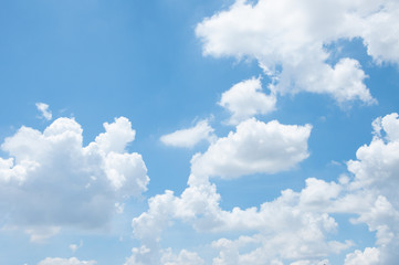 Beautiful Blue Sky Background Template With Some Space for text