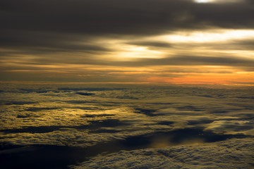 Airplane Sunset Cloudscapes