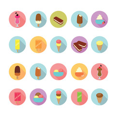 Ice cream icons set, Illustration eps10