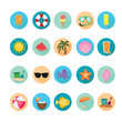Beach and summer icons set. Illustration eps10
