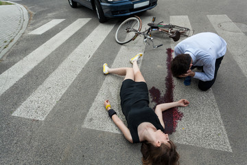 Woman killed by car