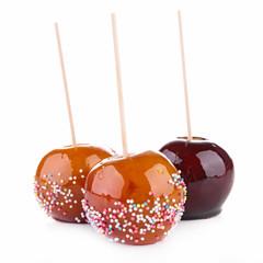 caramel apples on sticks