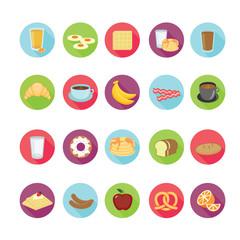 Breakfast icons set. Illustration eps10