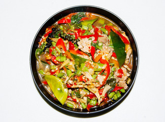spicy and colorful menu in thai food style