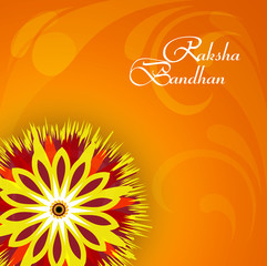 Vector illustration Indian festival Raksha Bandhan rakhi colorfu