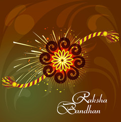 Raksha Bandhan bright colorful rakhi indian festival background