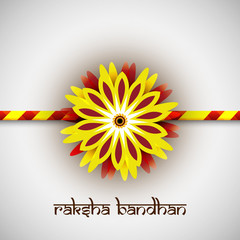 Beautiful rakhi vector Indian festival Raksha Bandhan card color