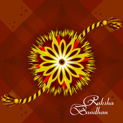 Vector Indian festival Raksha Bandhan rakhi background